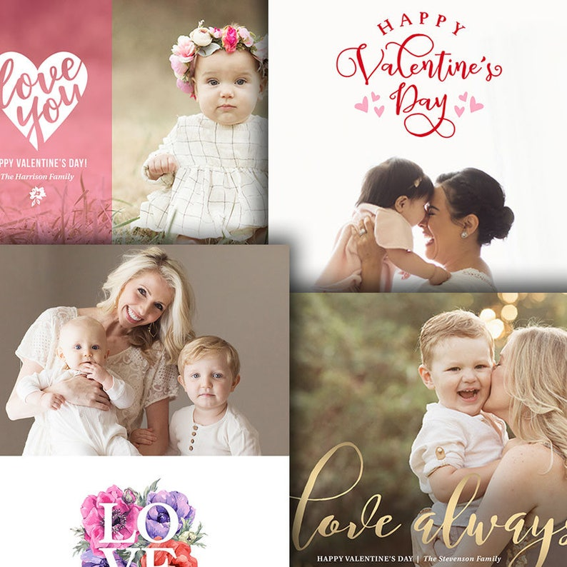 Valentine's Day Photo Card Templates  For Photographers  image 0