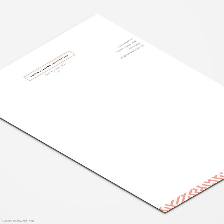 42 Company Letterhead Templates: Photographer Letterhead Photoshop Template Photography