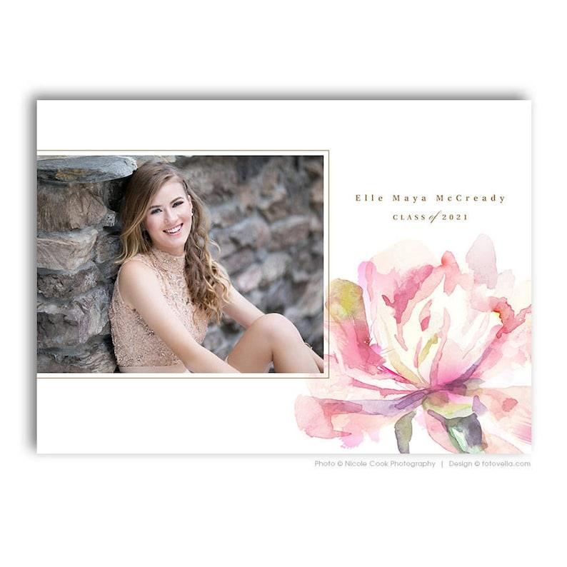 Senior Grad Card Photoshop Template  For Photographers  image 0