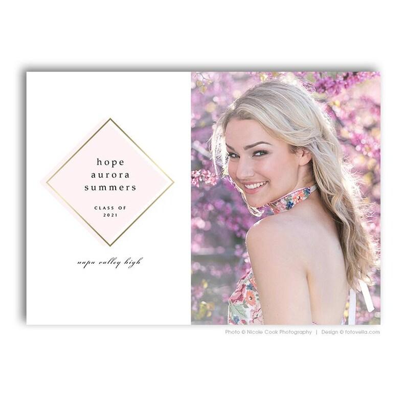 Senior Graduation Card Template  Senior Announcement  For image 0