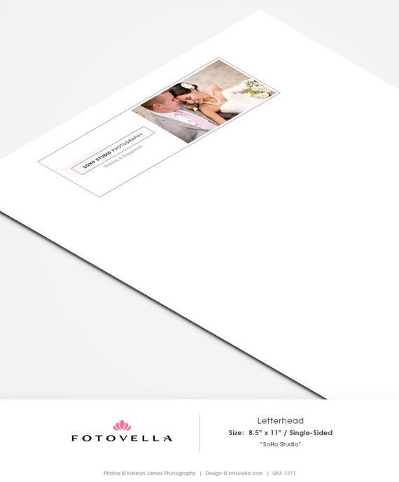 42 Company Letterhead Templates: Photography Letterhead Template SOHO Studio 1371