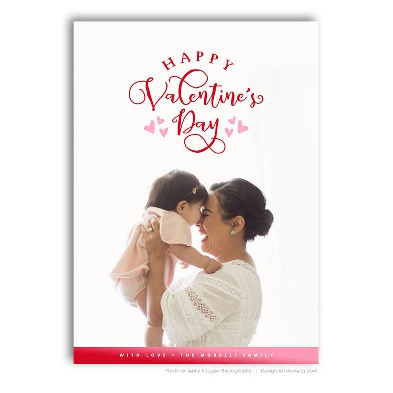 Valentine's Day Photo Card Template  For Photographers  image 0