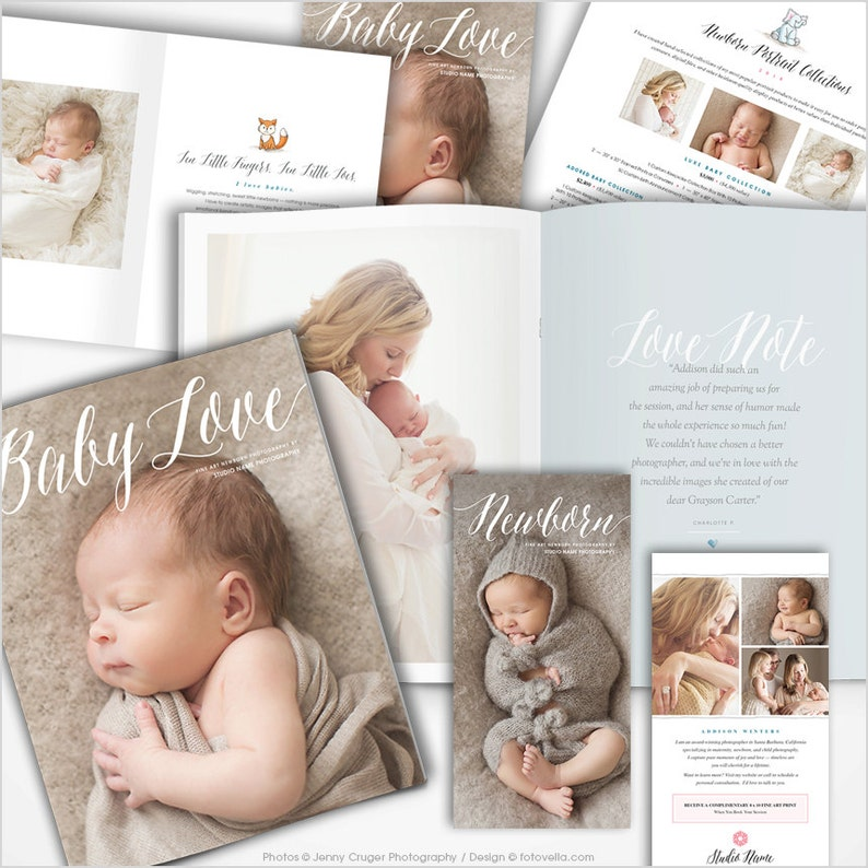 Newborn Photography Marketing Set with Studio Welcome Guide image 0