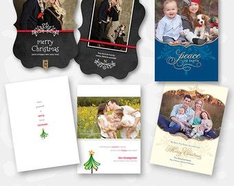 Christmas Card Templates - Three Card Bundle - 1023