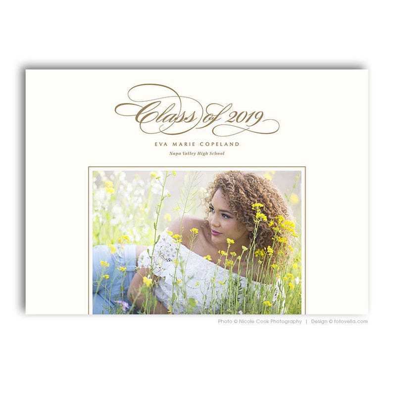 Senior Graduation Card Template  For Photographers  image 0
