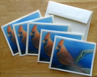 Cardinal Note Card Set (5 cards)