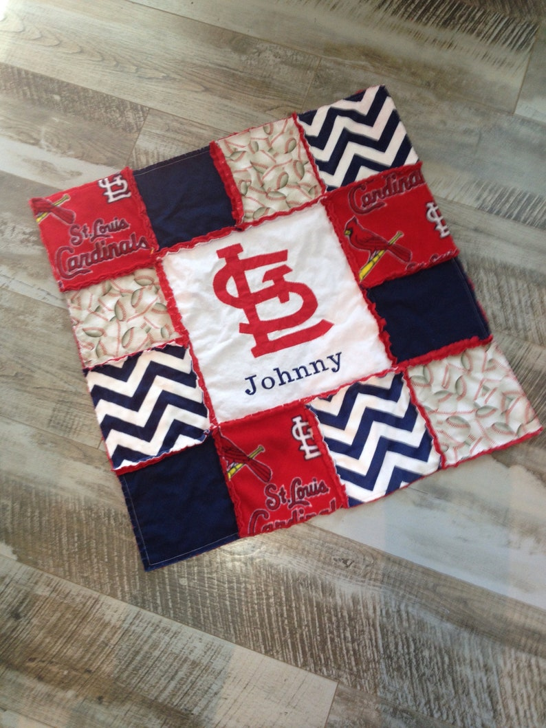 St Loius Cardinals Lovie Lovey Security Blanket Bear Baseball A Great Variety Of Goods Nursery Bedding