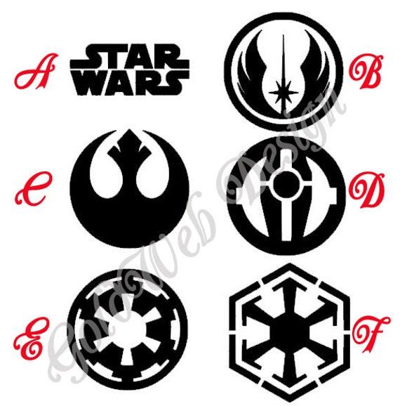 star wars symbols inspired vinyl car decals rebel alliance etsy Mail Man Truck image