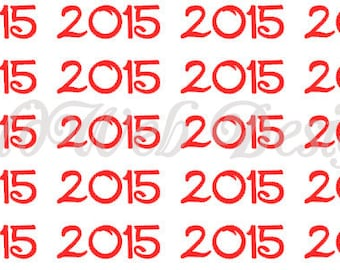 Year 2015, 2016, 2017, 2018, 2019,..... decals (Set of 20)