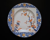 Mottahedeh Chinese Imari Style Scroll Plate Porcelain - 20th Century