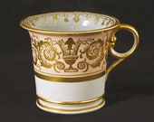 Early Worcester Barr, Flight Barr Porcelain Coffee Can - 1804 -1813, England