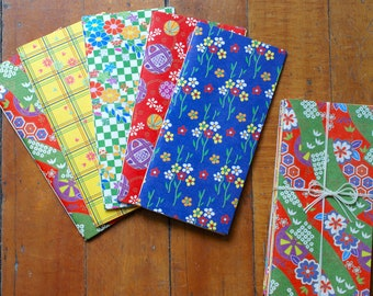 Limited Edition, Origami Paper Notebook Set, Traditional -- Hand-stitched Journals, Wedding Favors, Bridesmaids