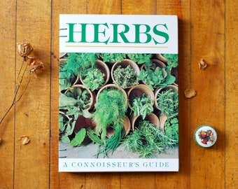 Fine Art Hardcover Notebook 'Herbs: A Connoisseur's Guide' - Unique Coptic Binding, Sketchbook, One of a Kind