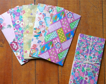 Limited Edition, Origami Paper Notebook Set, Hybrid -- Hand-stitched Journals, Wedding Favors, Bridesmaids