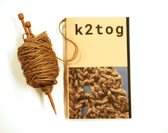 k2tog - Poetry Art Book by Jessica Bebenek *WITHOUT TWINE*