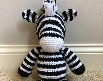crochet zebra amigurumi stuffed animal
