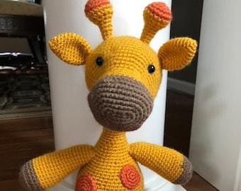 crochet 15-16 inch giraffe amigurumi stuffed animal