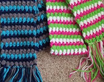 crochet kids scarf