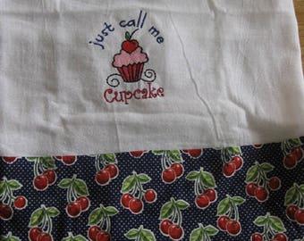 Just Call Me Cupcake Flour Sack Kitchen Towel