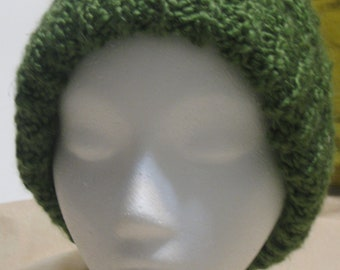 Soft Green Cabled Beanie