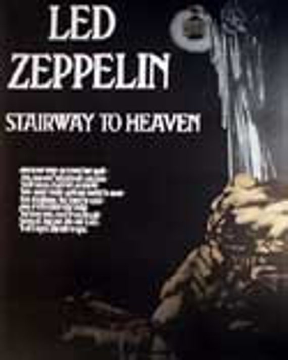 Led Zeppelin Stairway To Heaven Music Poster Etsy