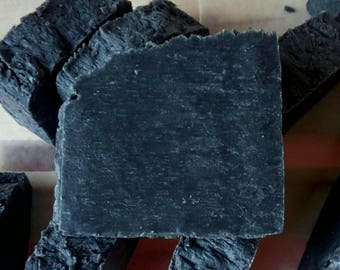 Activated Charcoal Lard & Lye Soap. Unscented All Natural