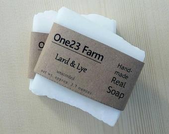 Unscented Lard & Lye Soap