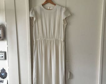 Vintage white sheer short sleeve dress