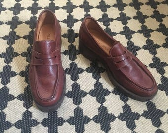 Cole Haan brown leather loafers size 5.5