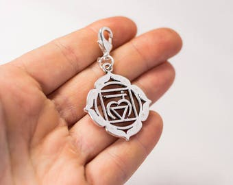 Jewelry Making Supplies Yoga Healing Charms 10 Antique Silver Lotus Yoga Healing Charms Lotus Charms Charms 1338 18x17mm