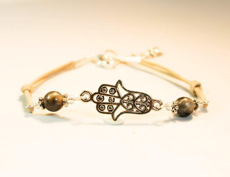 Happiness and Good Fortune Bracelet SCC869 Health Good luck Hamsa hand Bracelet
