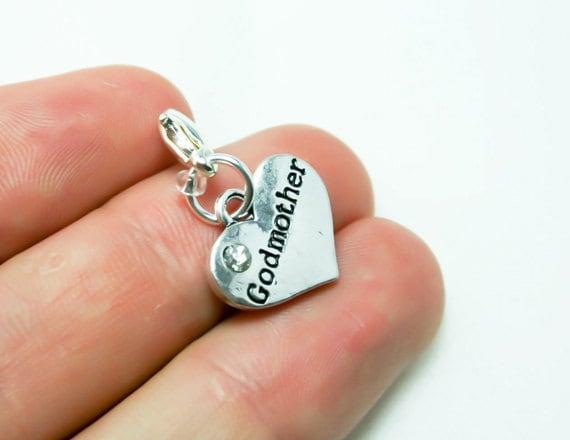 Charme de marraine. Breloque coeur pour cadeau de marraine. Godmom porte-clé breloque. SCC385