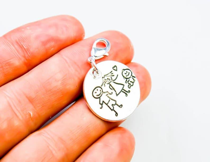 Family Charm Clip On Charm Bracelet Family Charm Stick Family Charm SCC062 New Baby Charm