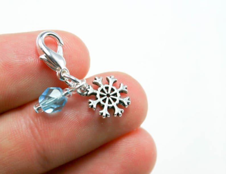 Blue Snowflake Charm Frozen Snowflake Charm SCC084 Snowflake Charm for Bracelet