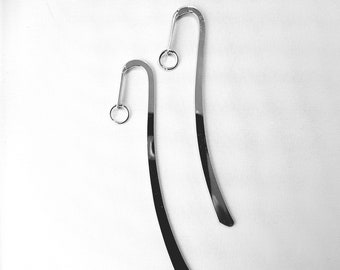 Metal Bookmarks - Two Shepards Hook Bookmarks - Do It Yourself Bookmarks - Meal Book mark -Add a charm and make your own bookmark Sup 092