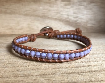 Lavender Single Wrap Bracelet