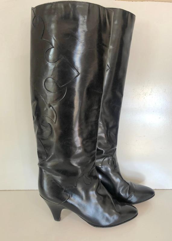 Vintage Cristiano black patent leather