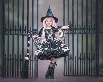 HALLOWEEN_ORDERS_CLOSED NEW Limited Edition Floral Couture Witch Dress (Accessories Sold Separately)