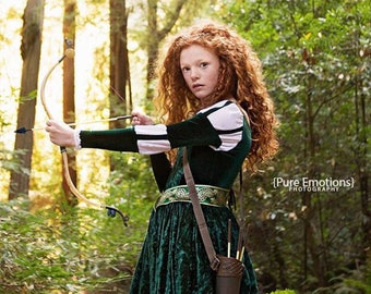 SOLD_OUT_FOR_HALLOWEEN Merida Costume - Brave Inspired Princess Gown