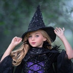 HALLOWEEN_DELIVERY Sequined Witch Hat - Handmade to Size