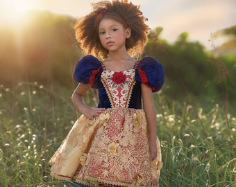 HALLOWEEN_ORDERS_CLOSED NEW Royal Snow White Play-Friendly Couture Dress