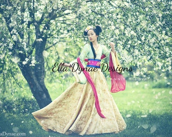 LIMITED EDITION Mulan Costume Disney-Inspired Hanfu Style Dress  sc 1 st  Etsy : disney mulan costumes  - Germanpascual.Com