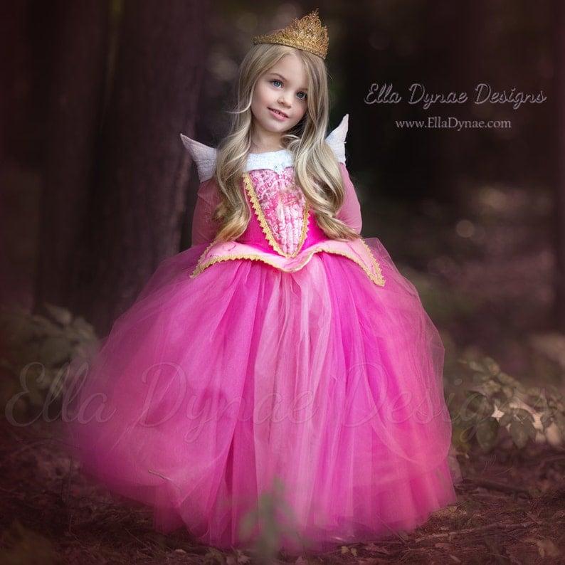 df1d5253d2f Sleeping Beauty Aurora Costume Pink Blue Dress Maleficent