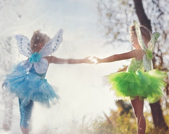 LEGGINGS ONLY - Periwinkle/Tinkerbell Fairy