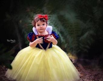 HALLOWEEN_ORDERS_CLOSED Snow White Costume Princess Gown Tutu Dress