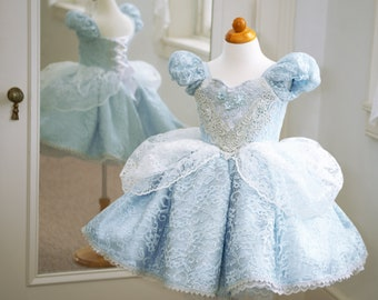 HALLOWEEN_ORDERS_CLOSED Cinderella Play-Friendly Couture Dress Disney-Inspired