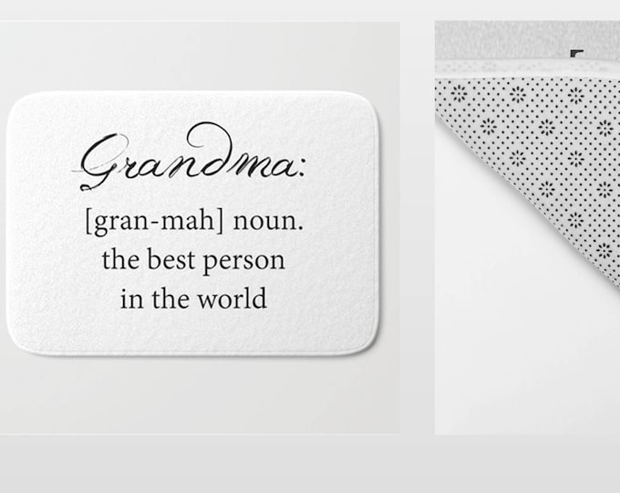 Bath Mat - Grandma Bath Mat - Grandma Definition - Grandma Gift - Bathroom Mat -  Made to Order