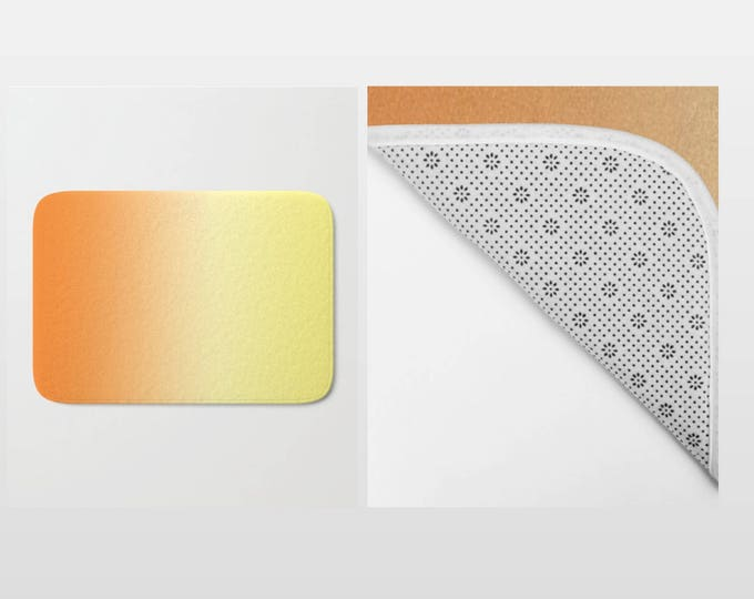 Bath Mat - Ombre Orange to Yellow - Shower Mat - Bathroom Mat -  Made to Order