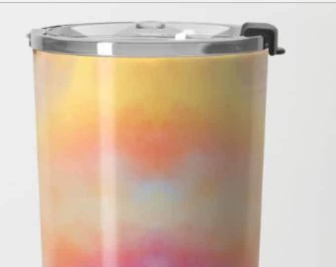Colorful Travel Mug Metal -  Coffee Travel Mug -  Hot or Cold - 20oz Mug - Stainless Steel - Made to Order
