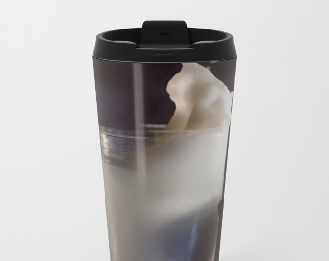 Milk and Cookies Travel Mug Metal - Coffee Travel Mug -  Hot or Cold - 20oz Mug - Stainless Steel - Made to Order